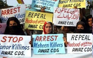 protesters against honor killings