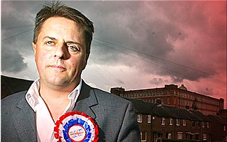 Nick Griffin the leader of BNP