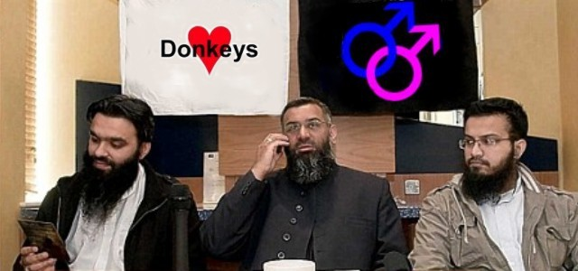 Choudary loves gays and donkeys