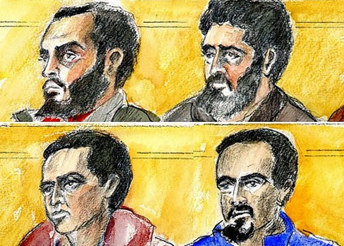 Four muslim terrorists (top) Saney Aweys, Nayef El Sayed. (bottom) Yacqub Khayre, Abdirahman Ahmed