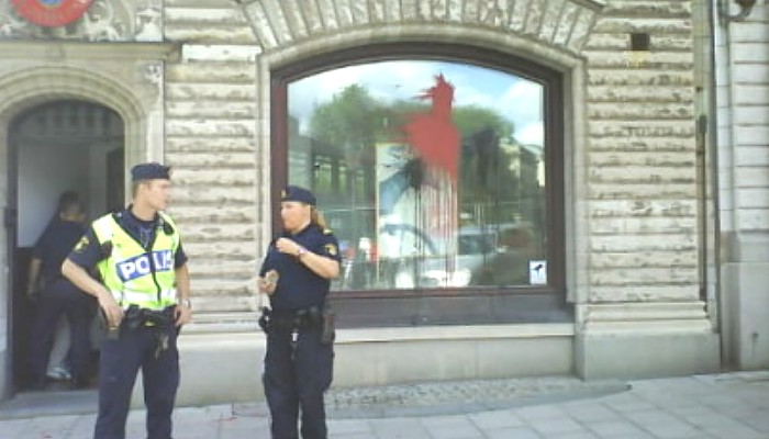 Danish embassy in Sweden attacked