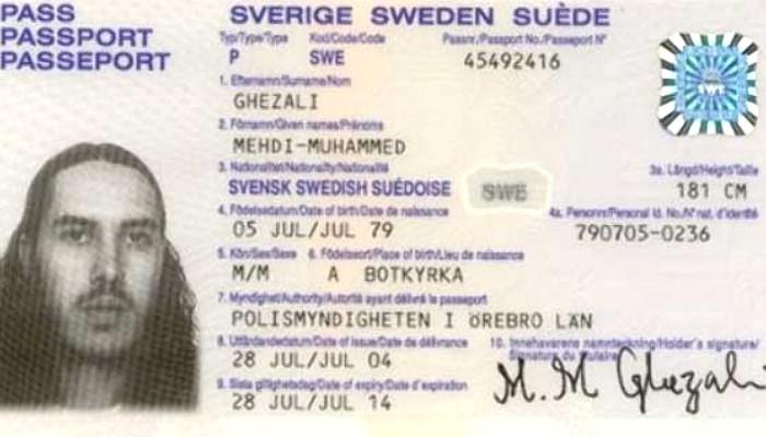 Mehdi Ghezalis passport