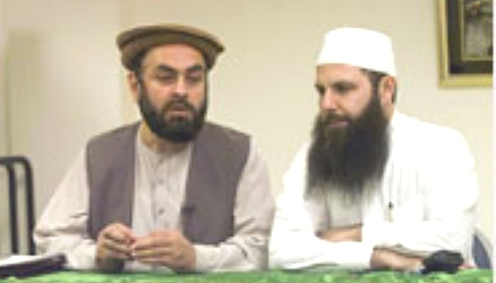 Ahmad Wais Afzali, at right, in 2001