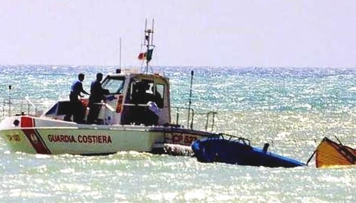 Italian coast guard intercepts illegal immigrant boat